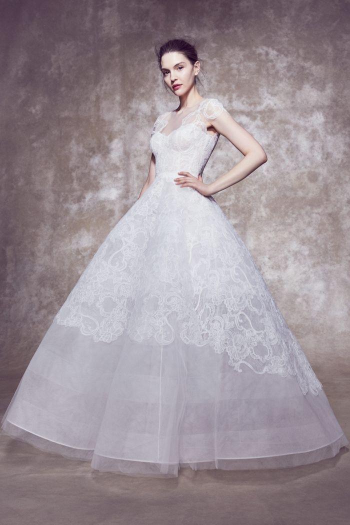 Пышное свадебное платье из коллекции 2020 Marchesa