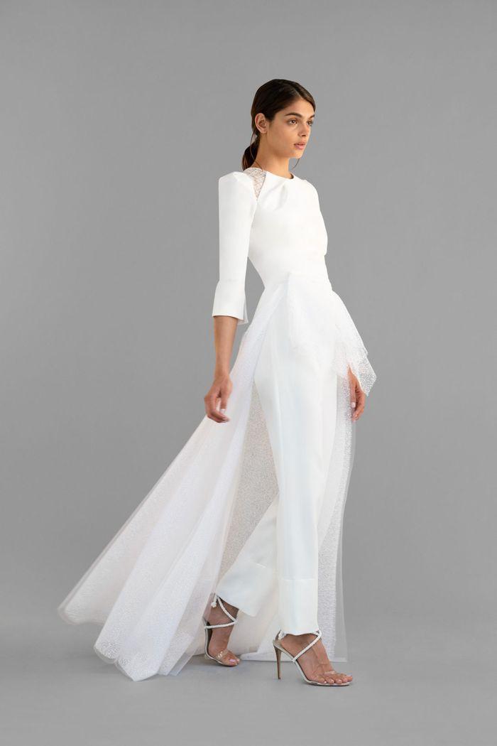 Тренд свадебной моды 2020 - свадебный костюм. Коллекция Roland Mouret