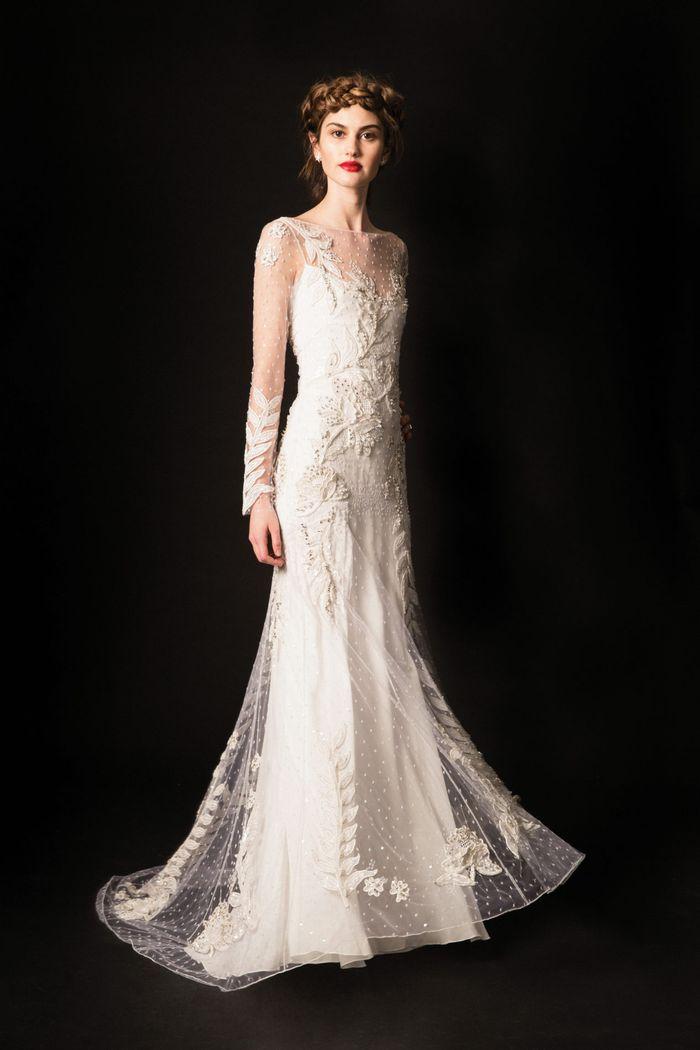 Модное свадебное платье с вышивкой из коллекции 2020 Temperley London