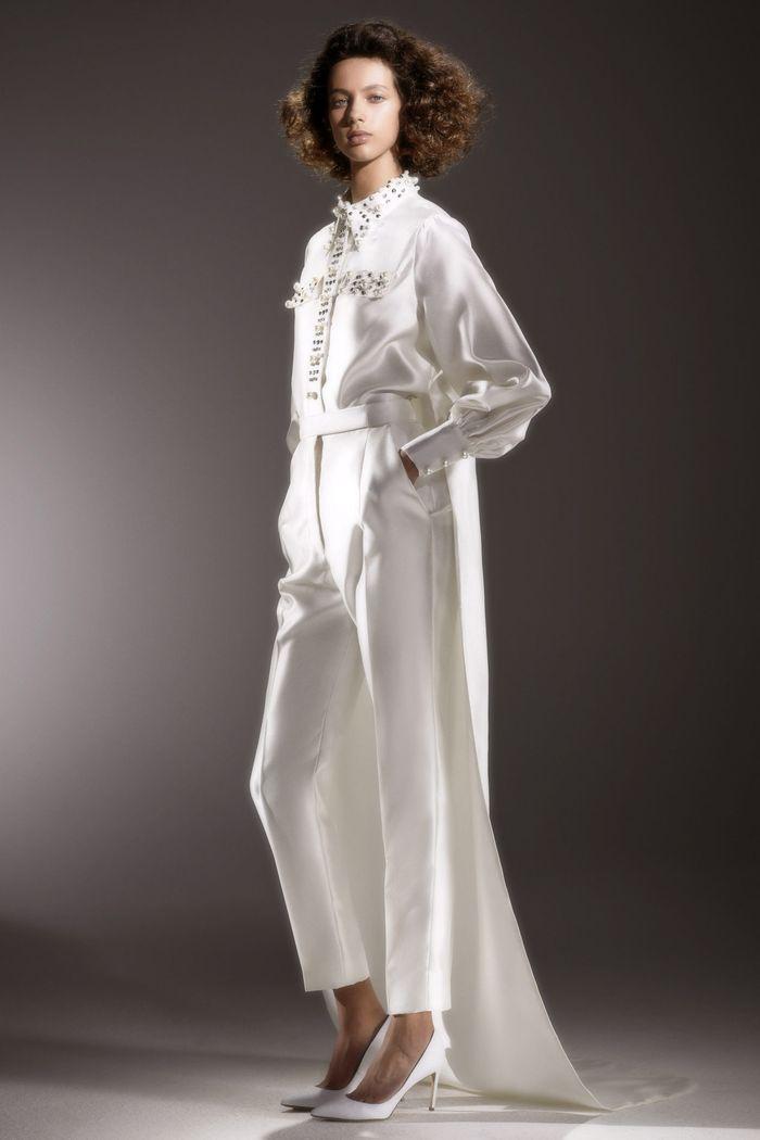 Тренд свадебной моды 2020 - свадебный костюм. Коллекция Viktor & Rolf