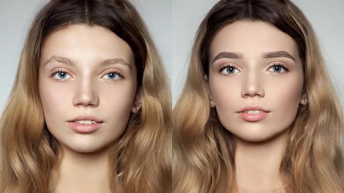 Фото перманентного макияжа бровей до и после