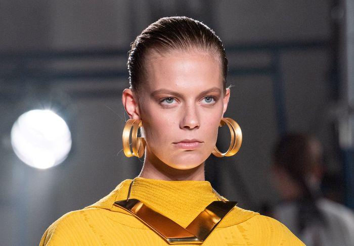 Тренды в макияже весна-лето 2020. Фото с показа коллекции Proenza Schouler