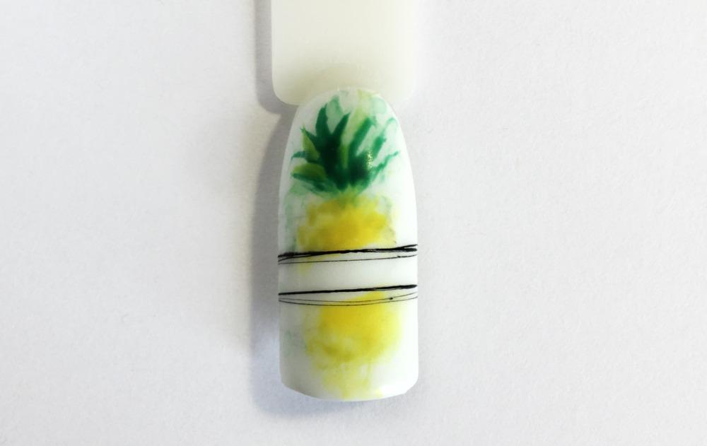 Пошаговый урок по nail-дизайну: идея маникюра на лето с ананасом
