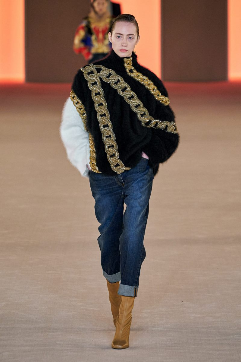 Модные джинсы осень-зима 2020-2021 из коллекции Balmain