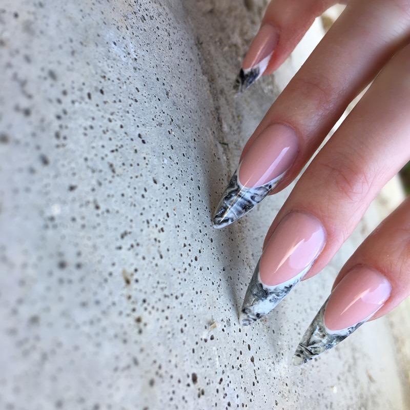 Мастер-класс: чёрно-белый дизайн ногтей