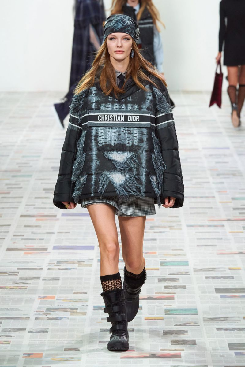 Модная куртка анорак осень-зима 2020-2021 из коллекции Christian Dior