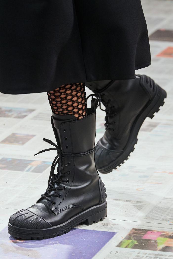 Модная женская обувь сезона осень-зима 2020-2021 - ботинки из коллекции Christian Dior