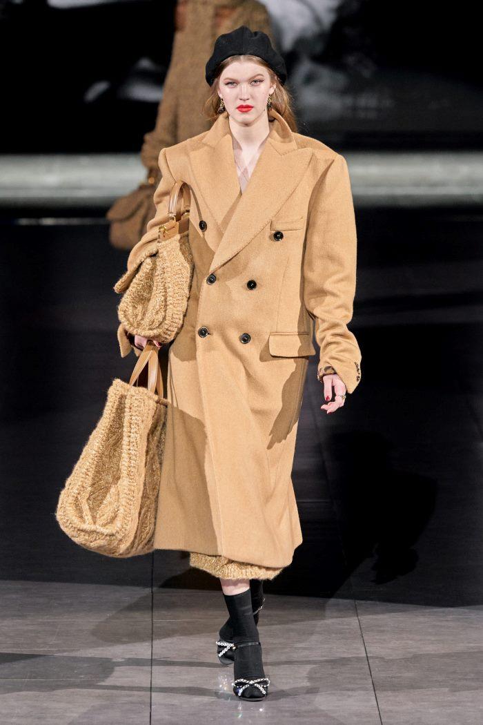 Тренд № 3 - пальто-пиджак в мужском стиле из коллекции осень-зима 2020-2021 Dolce & Gabbana