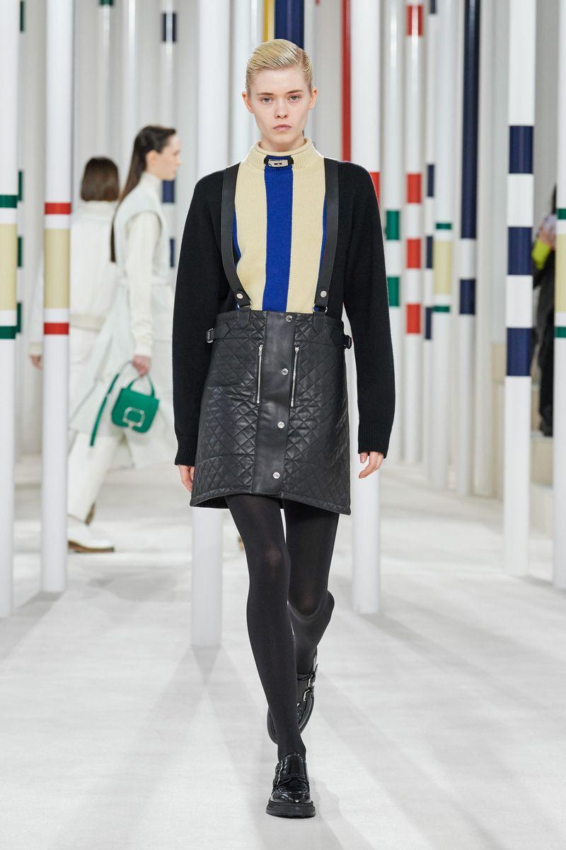 Модная юбка с пуговицами осень-зима 2020-2021 из коллекции Hermès