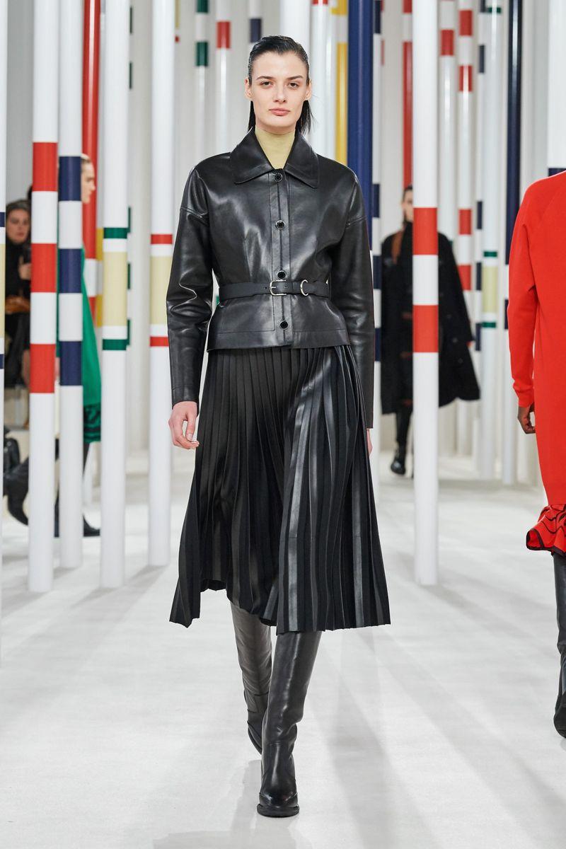 Модная плиссированная юбка осень-зима 2020-2021 Hermès