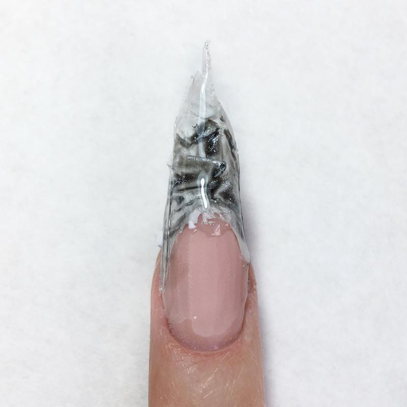 Мастер-класс чёрно-белый дизайн ногтей