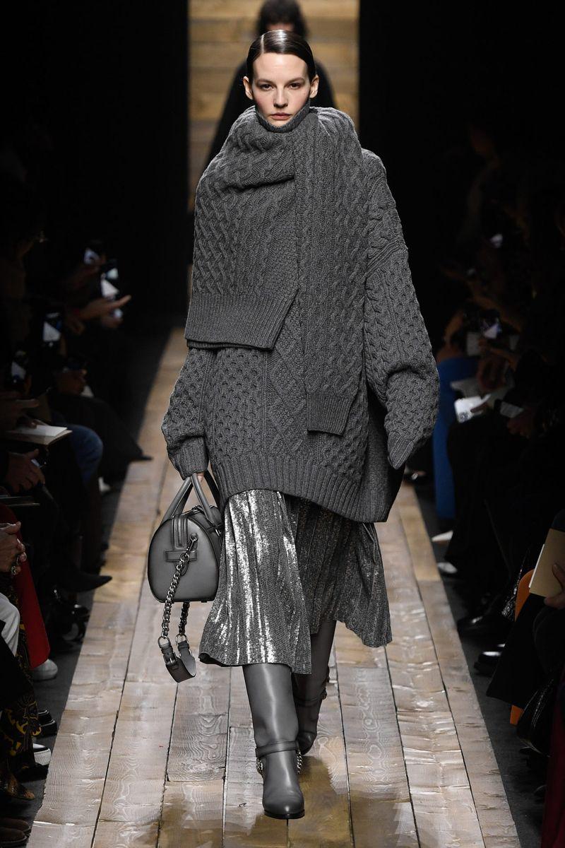 Модная плиссированная юбка осень-зима 2020-2021 Michael Kors Collection