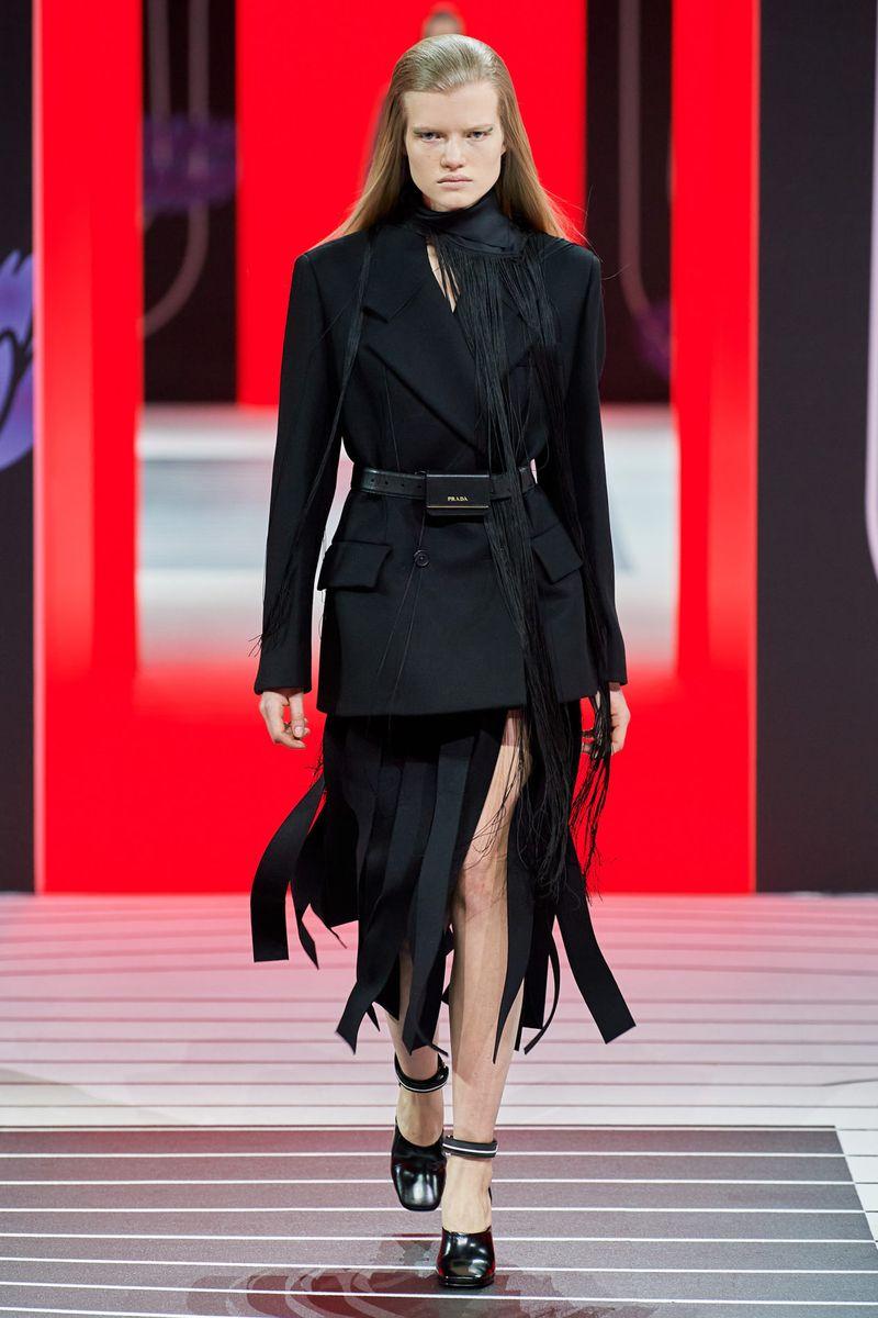 Модная юбка осень-зима 2020-2021 из коллекции Prada