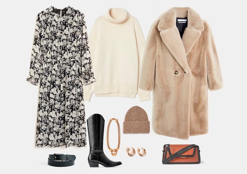 Шифоновое платье зимой