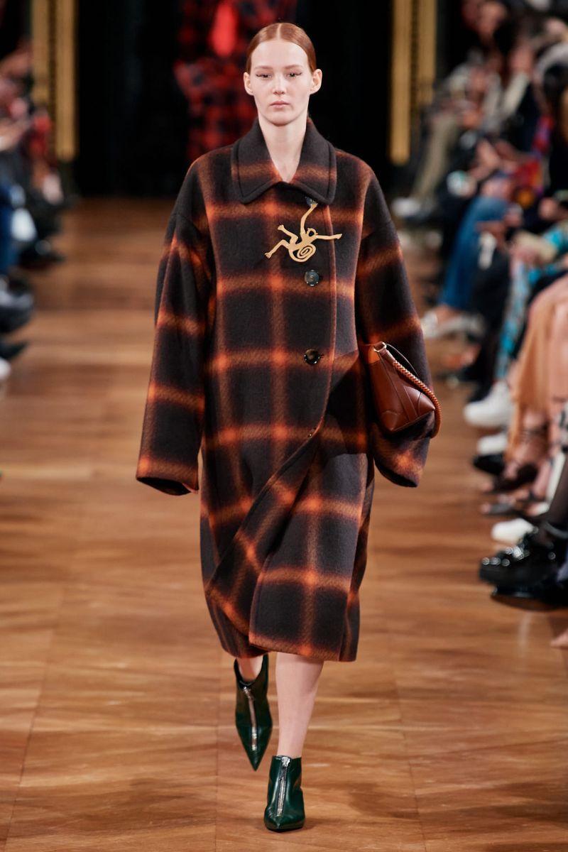 Модное пальто в клетку осень-зима 2020-2021 из коллекции Stella McCartney