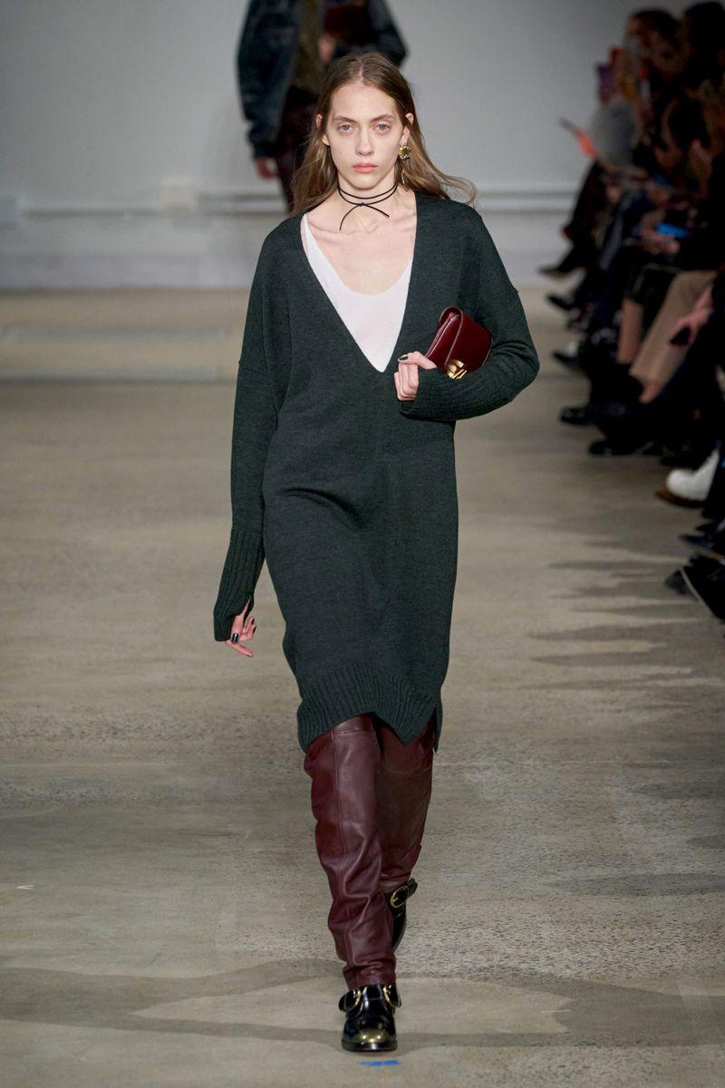 Модное платье-джемпер осень-зима 2020-2021 из коллекции Zadig & Voltaire