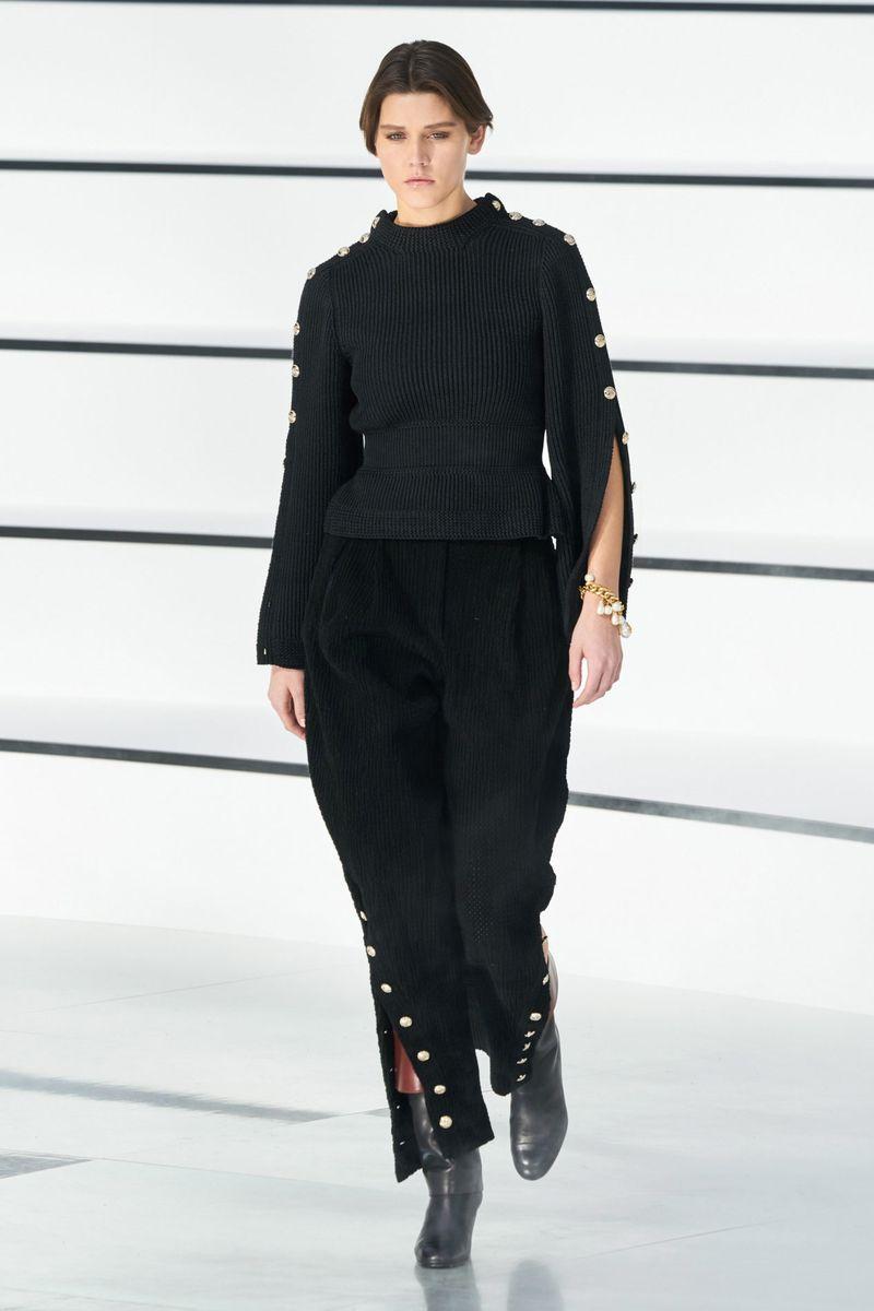 Модный джемпер из коллекции осень-зима 2020-2021 Chanel