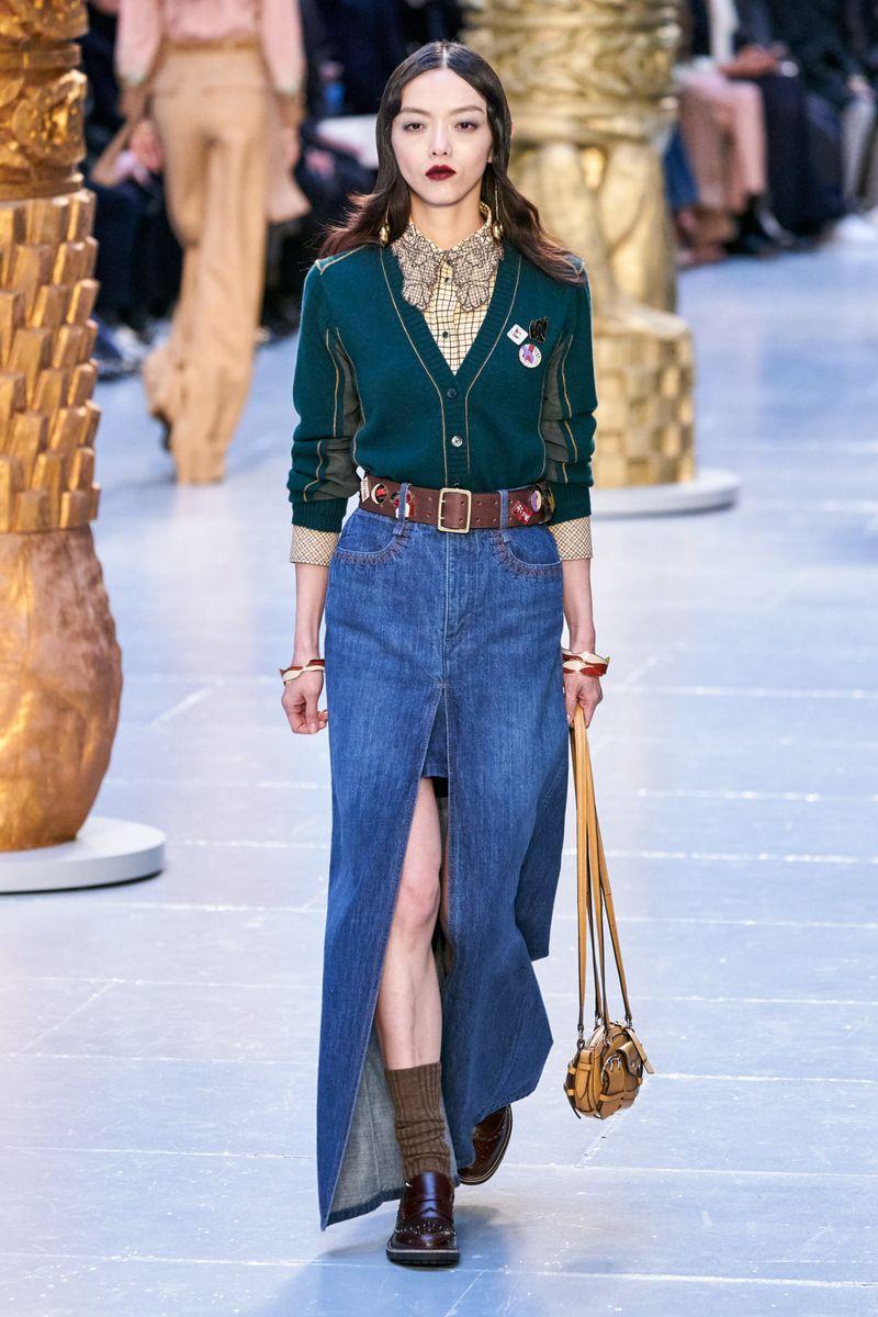 Модный кардиган из коллекции осень-зима 2020-2021 Chloé