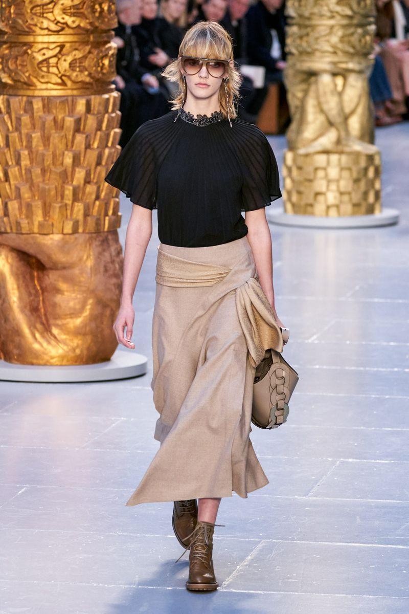 Модная блузка из коллекции осень-зима 2020-2021 Chloé