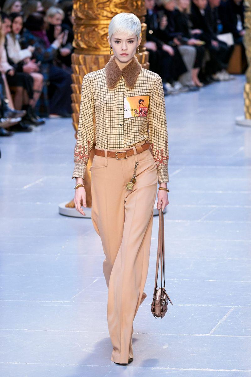 Модные брюки из коллекции осень-зима 2020-2021 Chloé