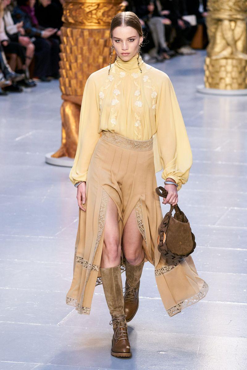 Модная блузка с длинными рукавами из коллекции осень-зима 2020-2021 Chloe