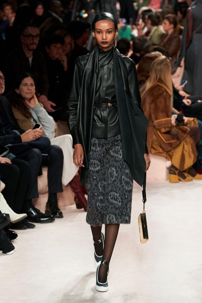 Модная кожаная рубашка из коллекции осень-зима 2020-2021 Fendi