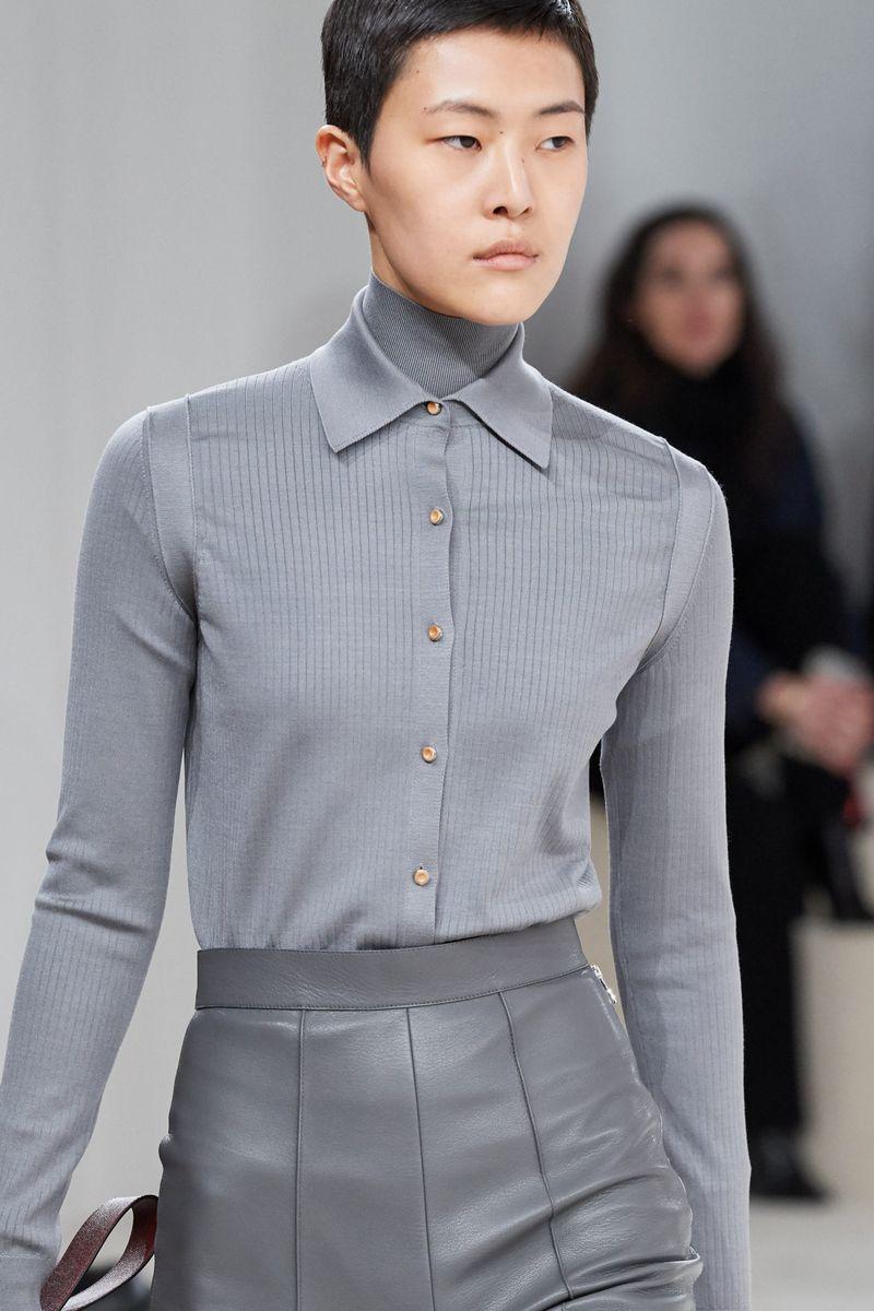 Модная трикотажная рубашка из коллекции осень-зима 2020-2021 Hermès