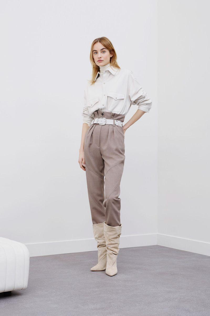 Модная белая рубашка с накладными карманами из коллекции осень-зима 2020-2021 IRO