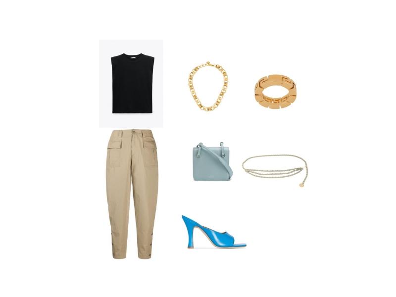 Как модно носить бежевые брюки карго в повседневных образах