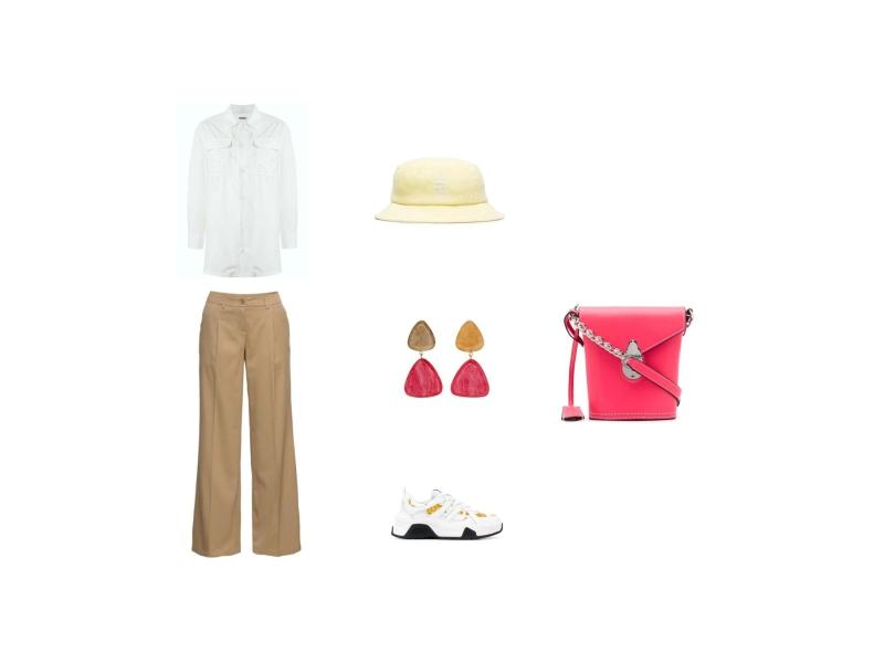 Как стильно носить летние льняные брюки