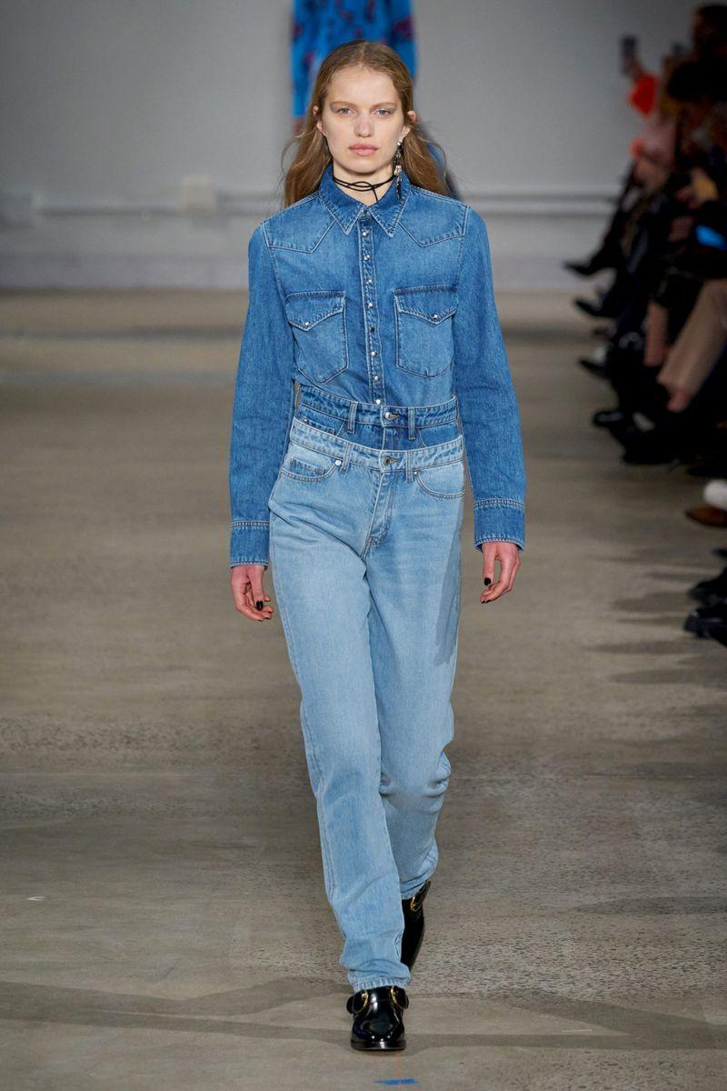 Модная джинсовая рубашка из коллекции осень-зима 2020-2021 Zadig & Voltaire