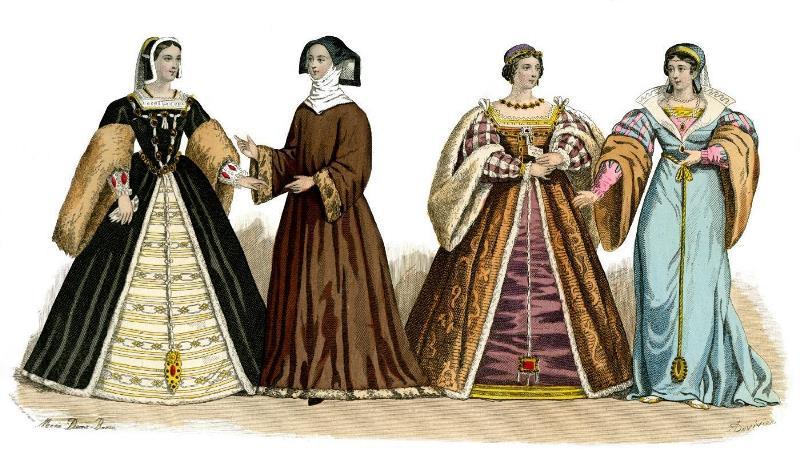 Женский костюм в эпоху Возрождения