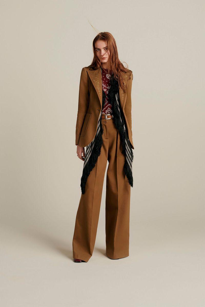 Модный брючный женский костюм из коллекции осень-зима 2020-2021 Tommy Hilfiger