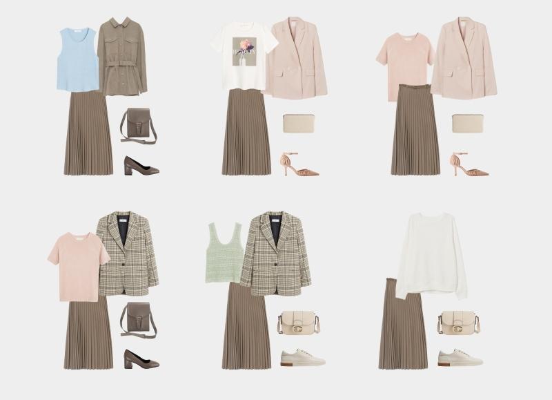 Базовый гардероб для женщины 30-35 лет: образы с юбкой