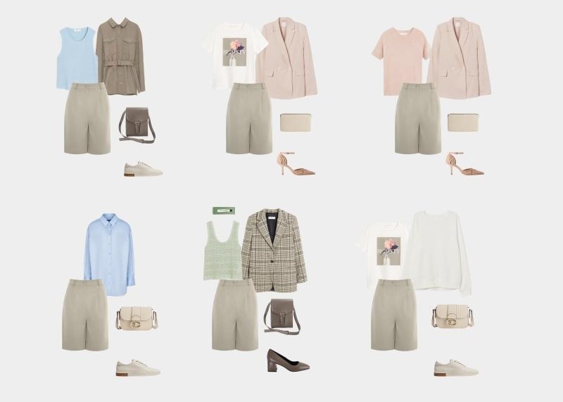 Базовый гардероб для женщины 30-35 лет: образы с шортами