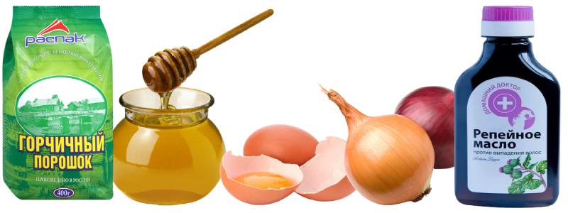 Маска с яйцом и медом для роста волос