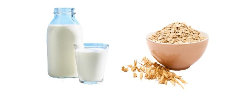 Отбеливающая маска с молоком