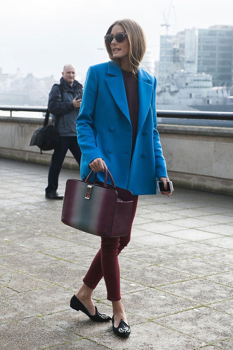 Укороченное женское синее пальто