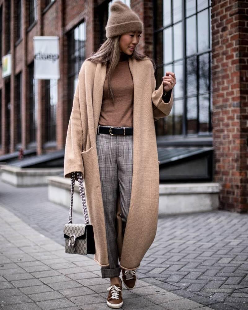 Кэжуал с пальто оверсайз