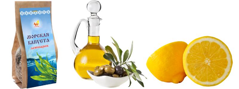 Маска из ламинарии, оливкового масла и лимонного сока