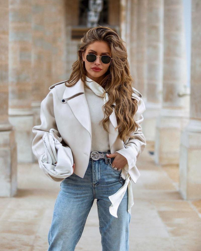 Образ № 1 - с белой курткой-косухой