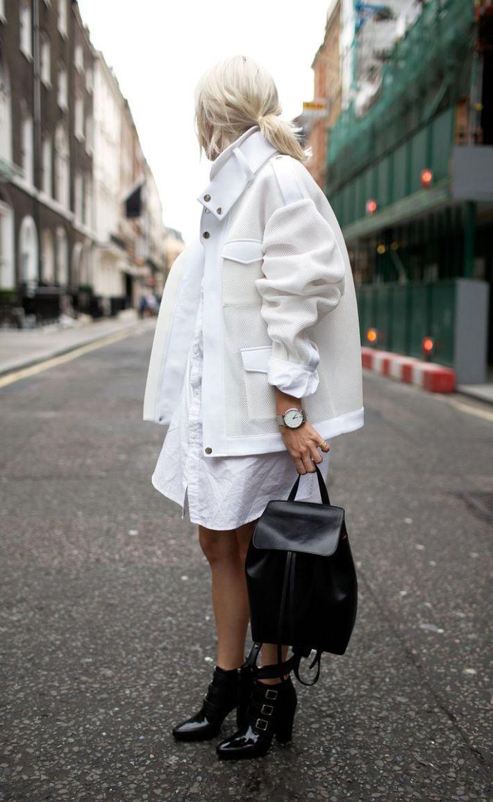 Образ № 3 - белая куртка-рубашка
