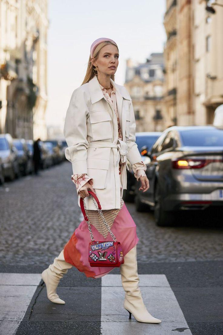 Образ № 4 - белая куртка с накладными карманами