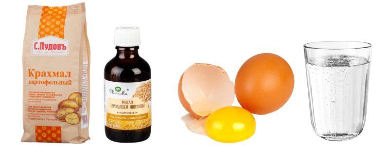 Маски для лица с крахмалом и яйцом