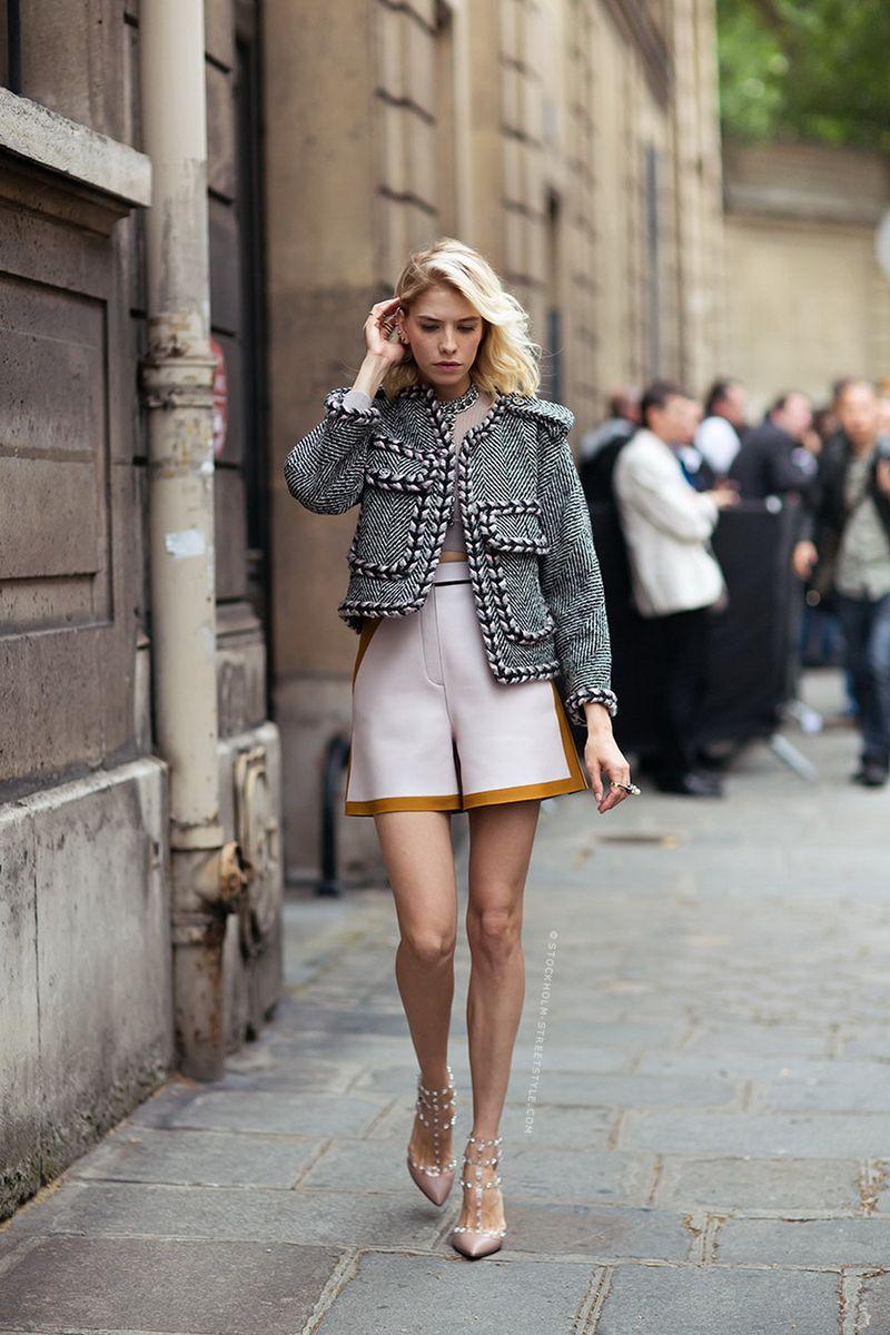 С чем носить короткую юбку-шорты