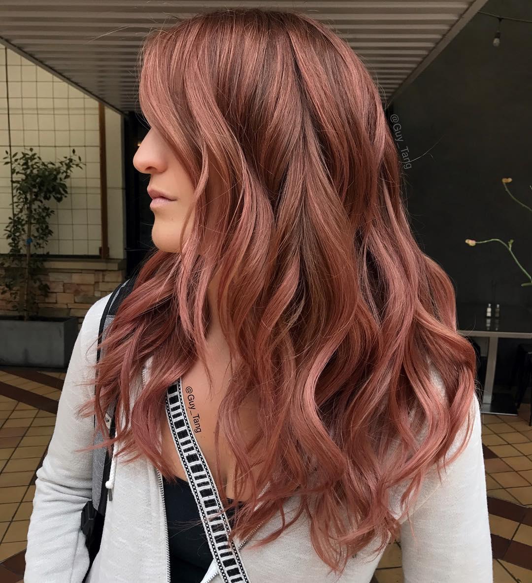 Оттенки розовых волос