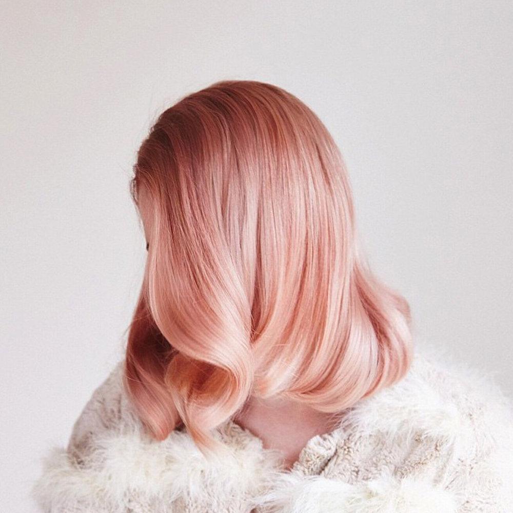 Однотонное розовое окрашивание