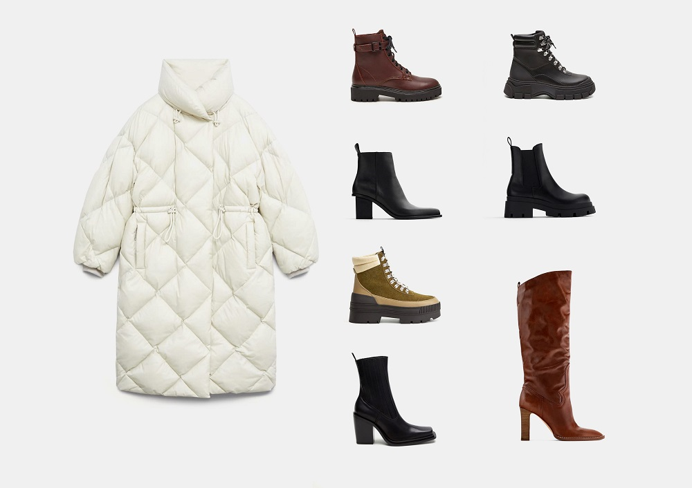 Актуальные модели обуви и сумок для комплектов с пуховиками