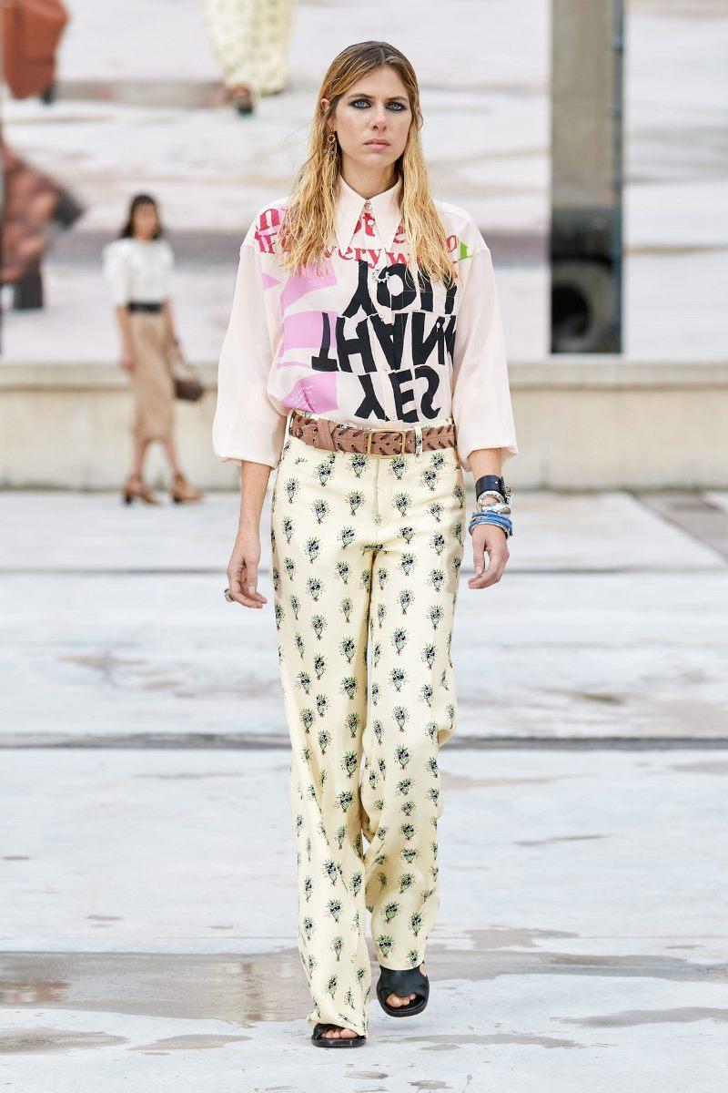 Модный тренд в одежде 2021. Фото из коллекции Chloé