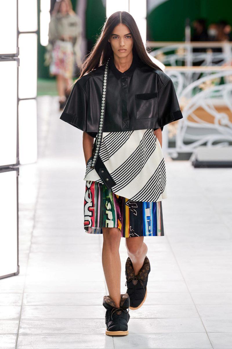 Модный тренд в одежде 2021. Фото из коллекции Louis Vuitton